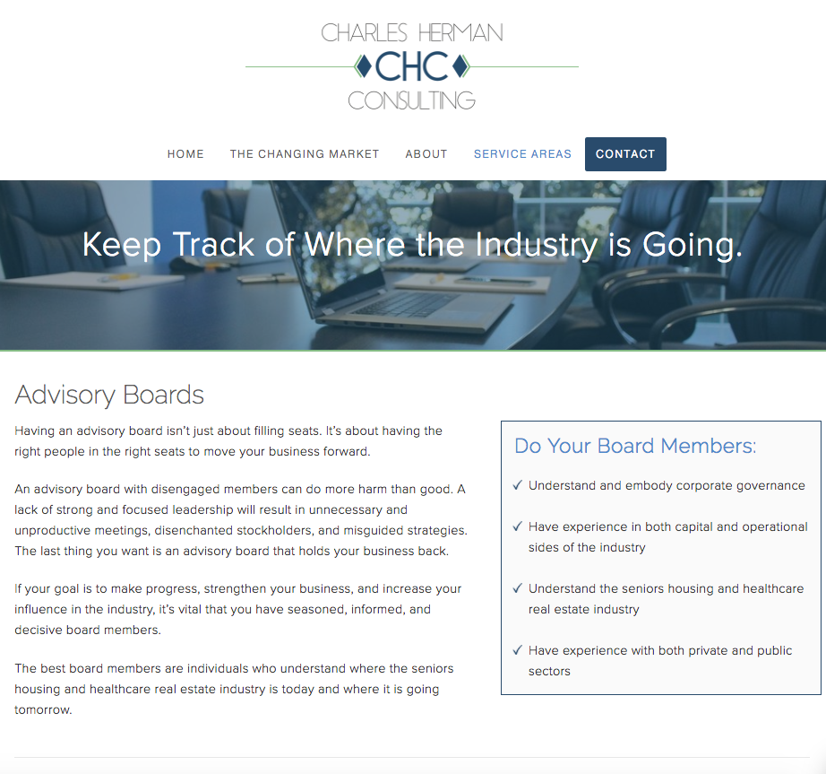 Charles Herman Consulting - Advisory Boards Page