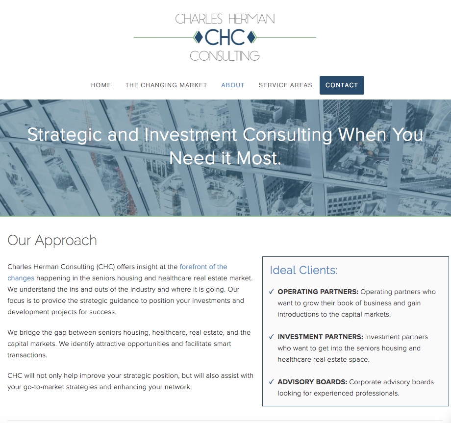 Charles Herman Consulting - Our Approach Page