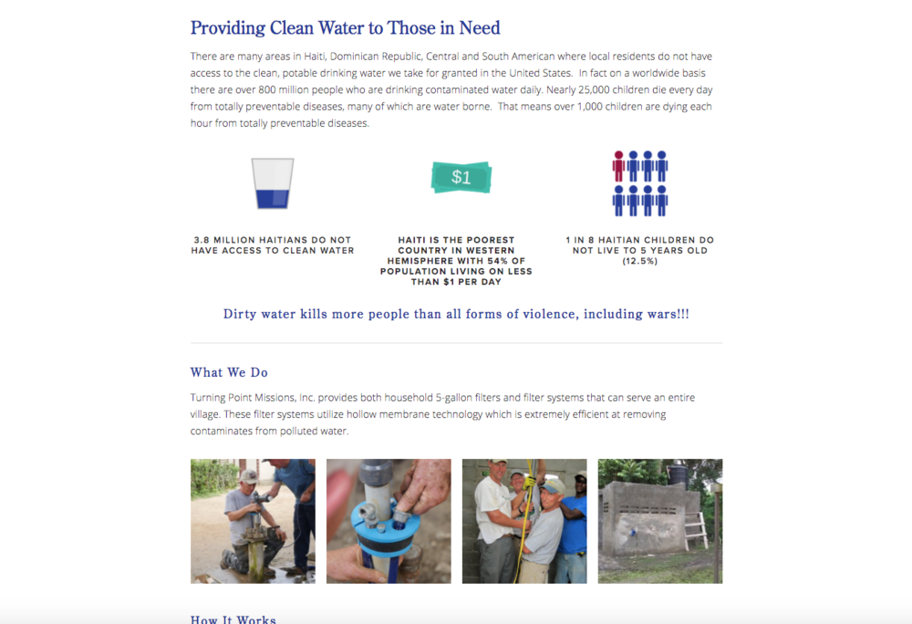 Turning Point Missions Haiti Clean Water