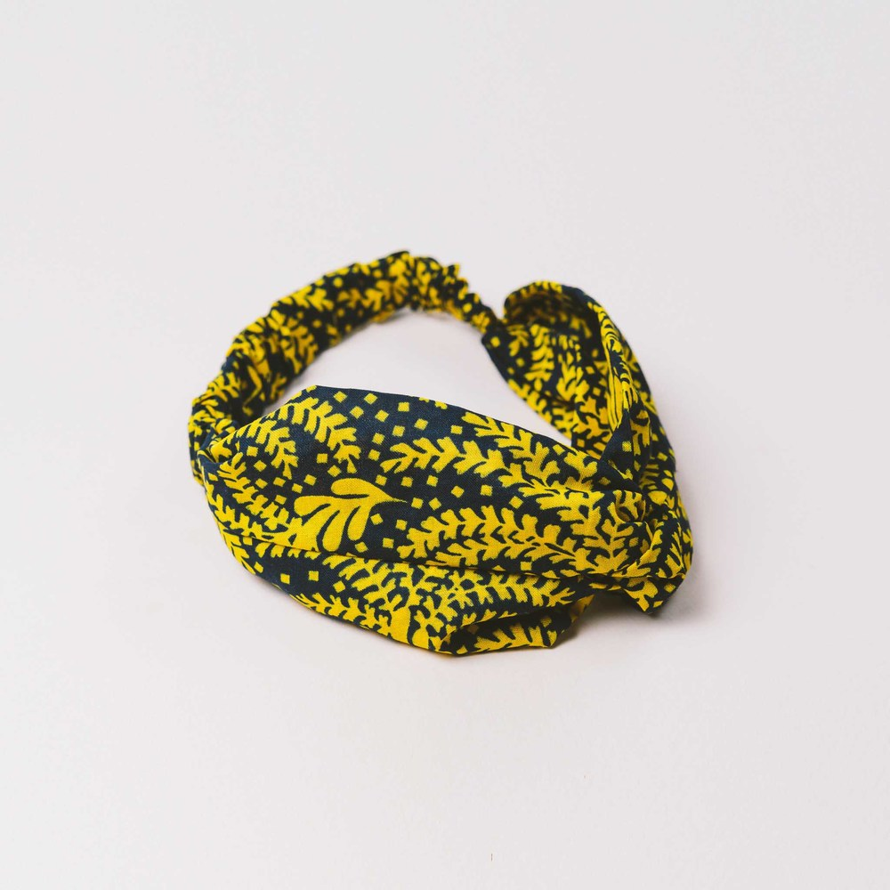 $15.00- LEAF SABURETE TURBAN HEADBAND