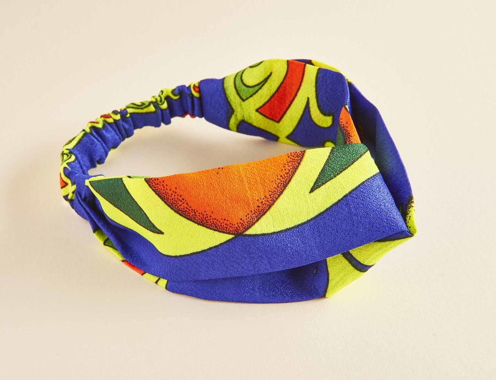$15.00- GEOMETRIC PARUMA TURBAN HEADBAND