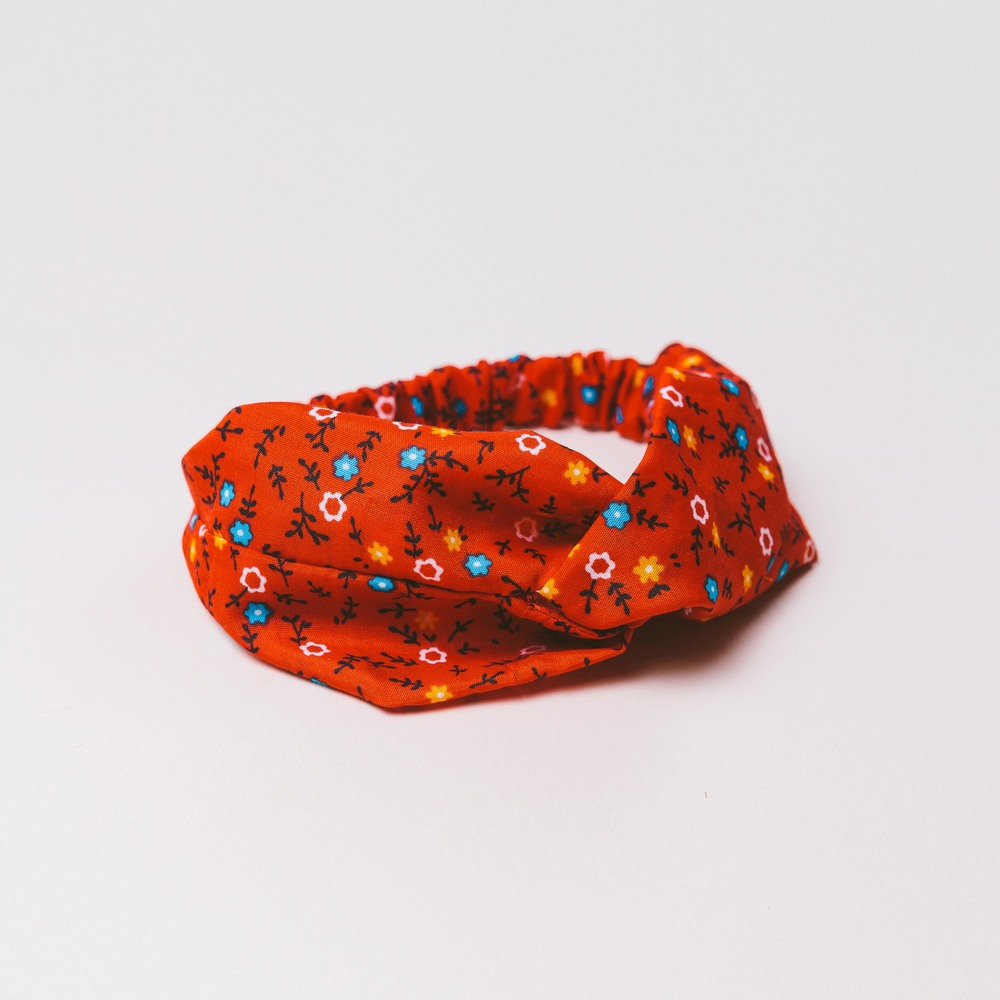 RED ZARAZA TURBAN HEADBAND