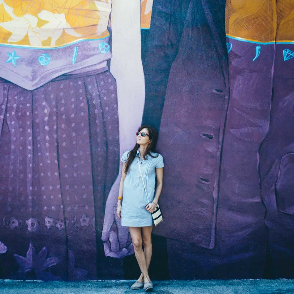 Wynwood Walls, Miami    Featured Products:  Pineapple Shopquira,   Pintada Crossbody.