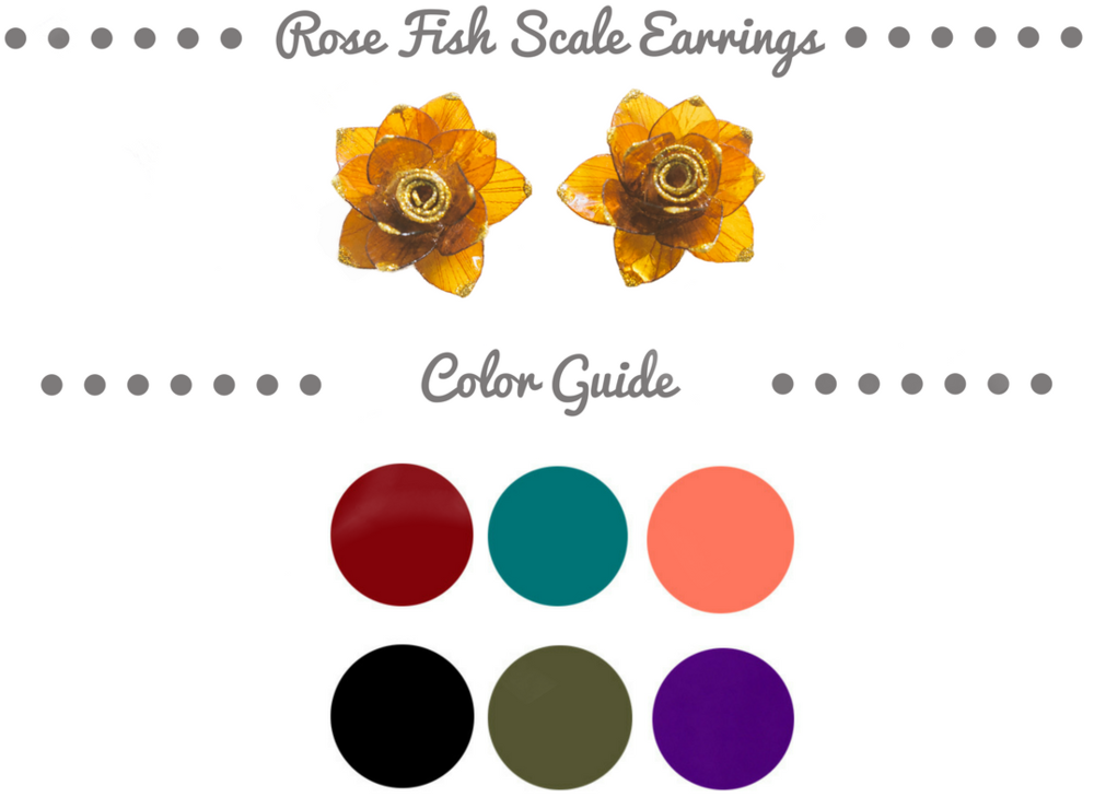 SHOP-PANAMÁ Rose Fish Scale Earrings Color Palette .png