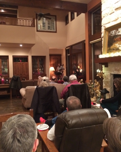 A house concert in Austin provided a comfortable and intimate setting for a solo cello program