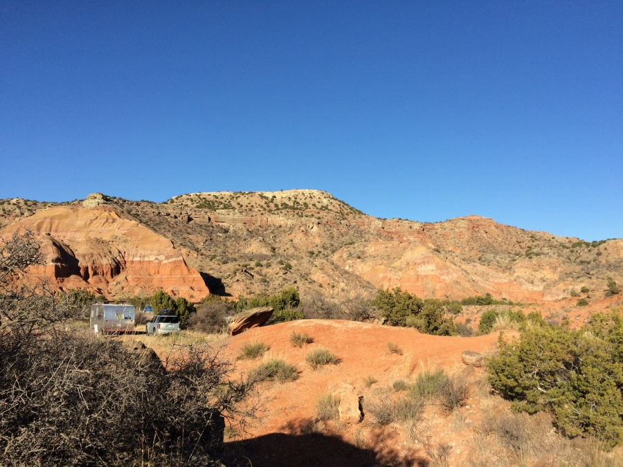 Our camping ground in Palo Duro Canyon