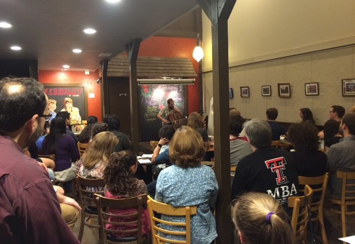 A packed house at J&B Coffee in Lubock