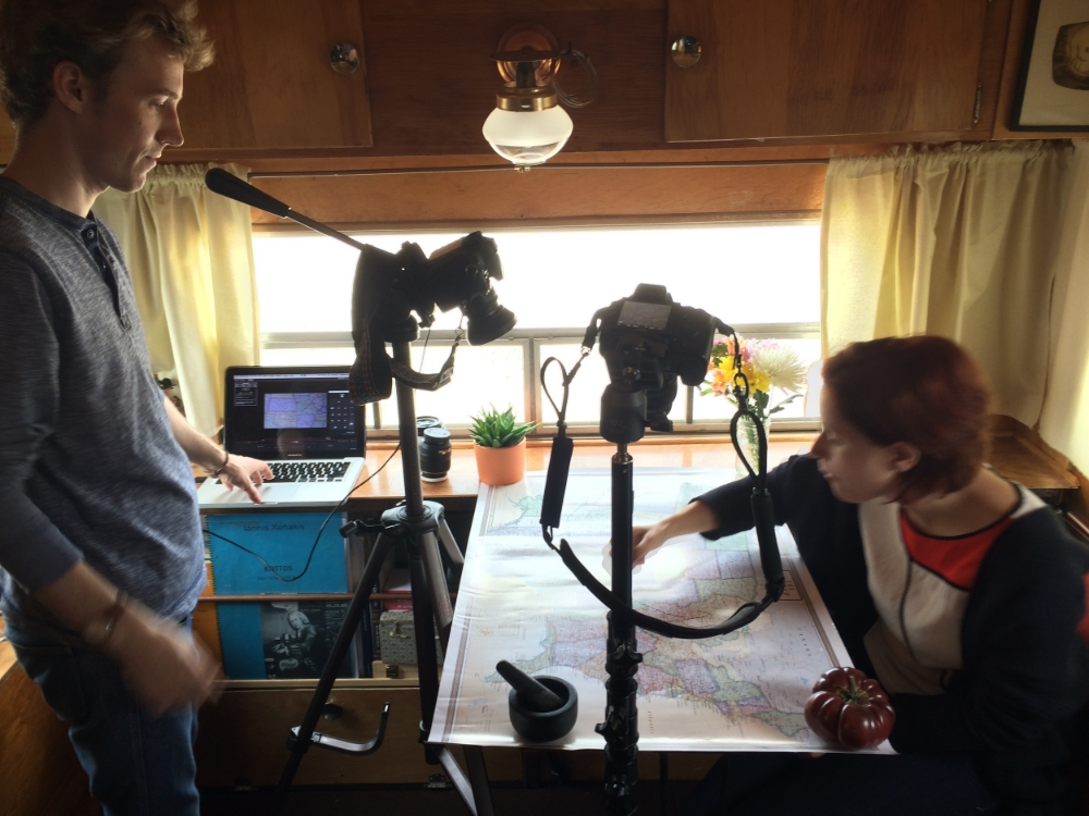 Our fantastic collaborator Mathias Reed stops by the trailer to work on a short video for us - stay tuned to see what he creates!