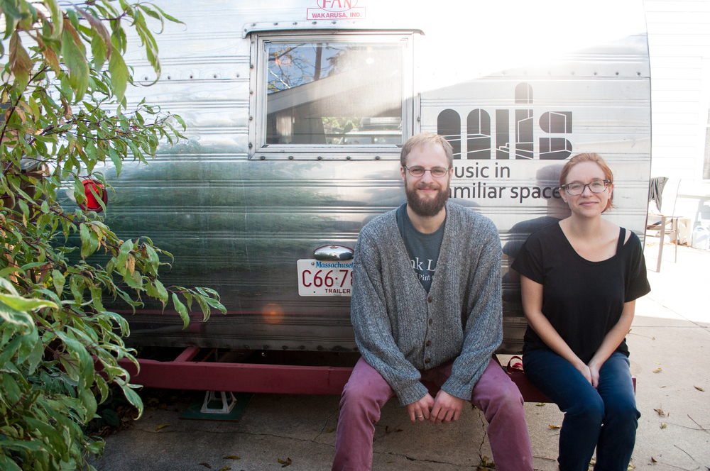 Steuart & Michelle with their trailer
