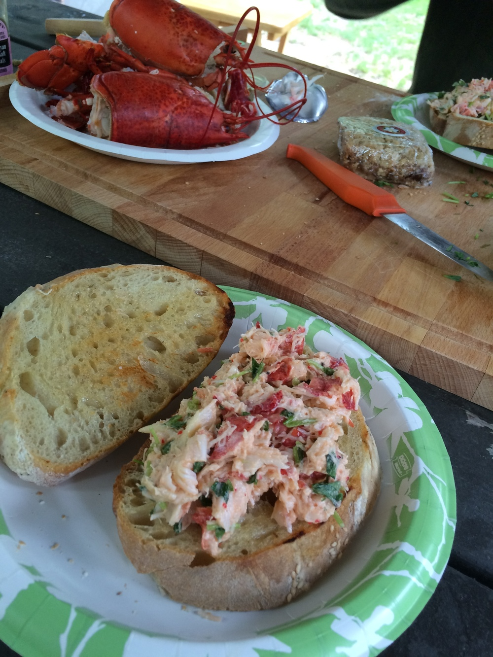 We couldn't go to Maine without making homemade lobster rolls