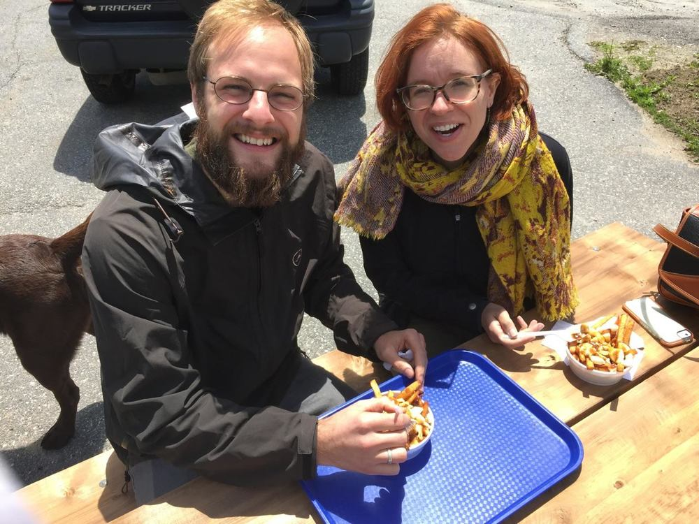 Enjoying some poutine in Canada!