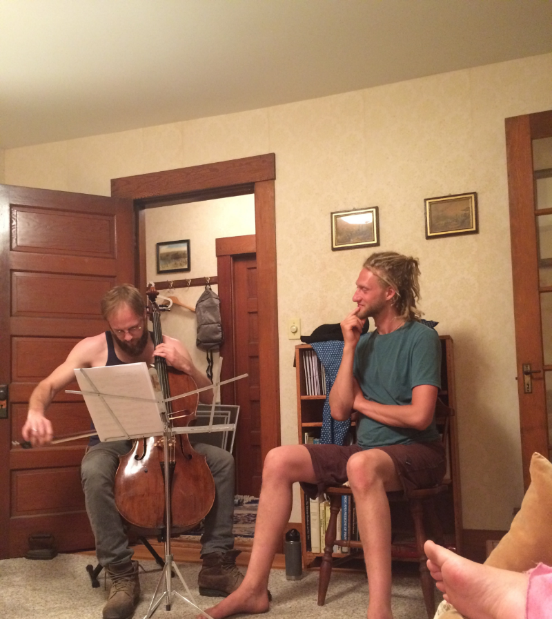 Evenings in Vermont were filled with music-making