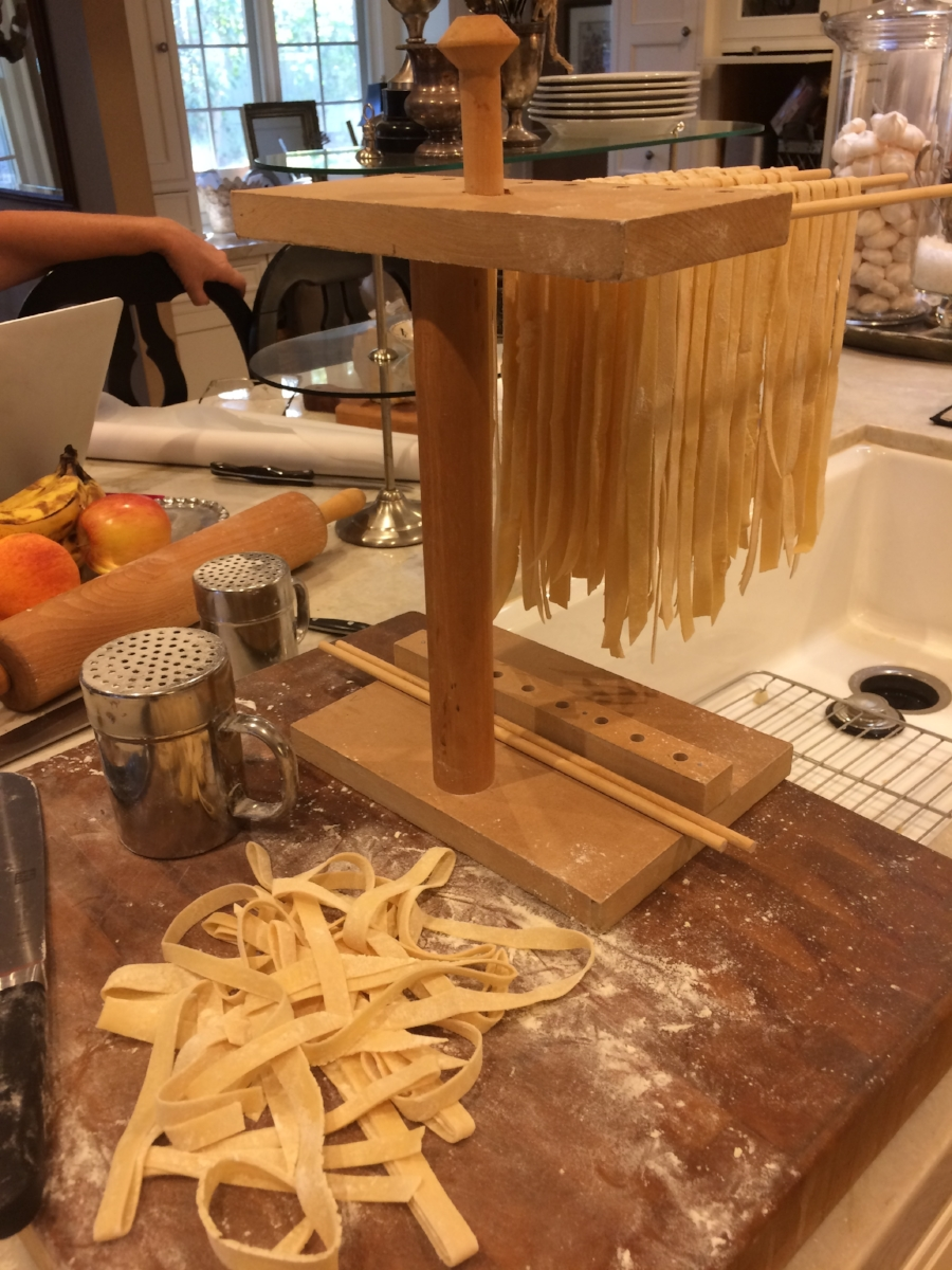 Drying out some homemade pasta