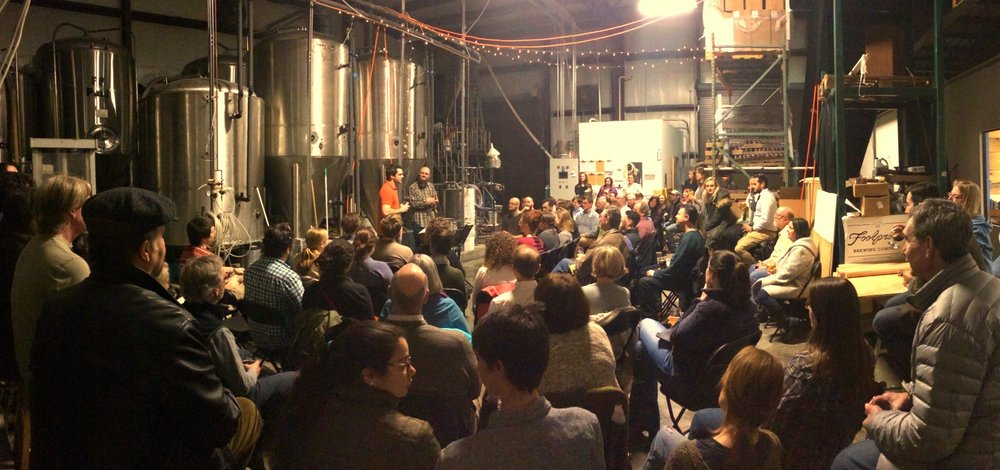 Steuart discusses Bach & Beer with Foolproof Brewing owner in Rhode Island
