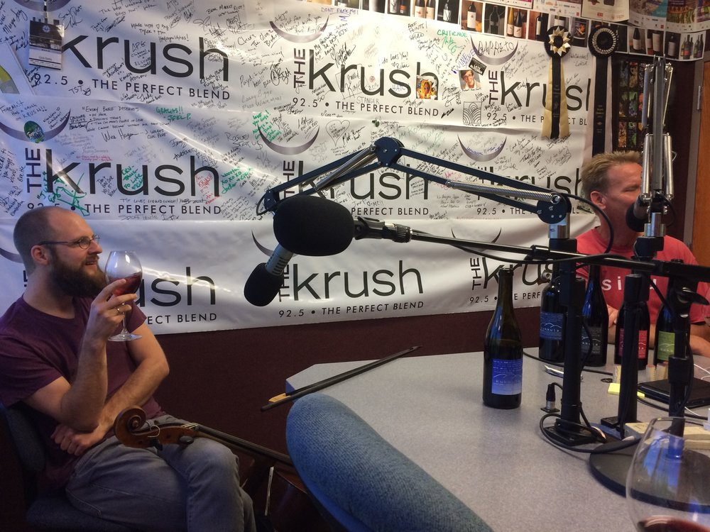 Pairing music with wine, live on the radio