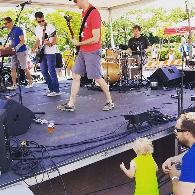 Great time at the Anoka Food Truck Fest! Thanks all for dancing and singing with us in the heat!!