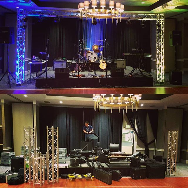 Before and after! We had an incredible night helping Alex and Emily celebrate their wedding. Congrats!!