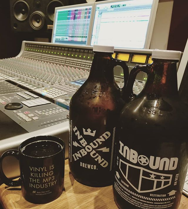 We found some studio fuel! Thanks, @inboundbrewco for the delicious beer!