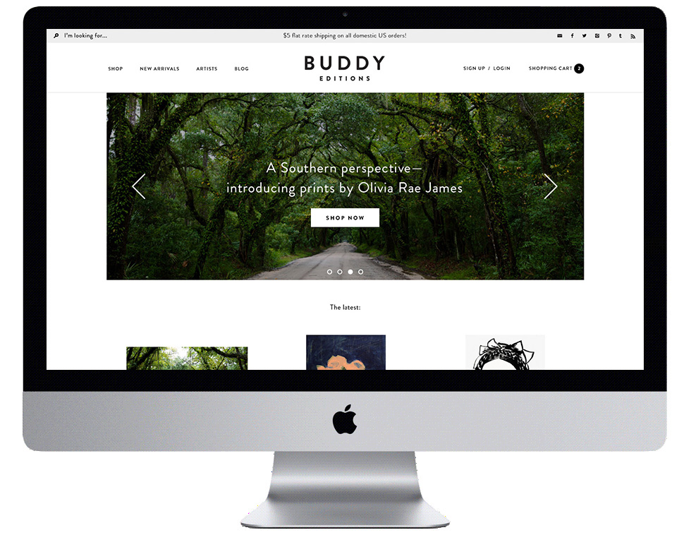 Buddy Editions Web Design
