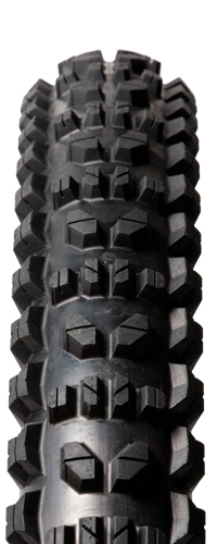 CG DH is an excellent gravity tire that uses a special compound to grip the most aggressive terrain and Active Guard sidewalls to reinforce the tire against sidewall cuts.