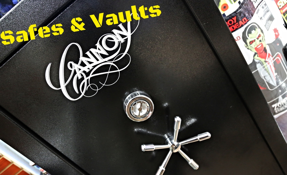 Whether it's a full-size firearm safe, or a small pistol vault to put by your bedside, we got you covered!  Come on by the shop to see our high-quality safes for sale by manufacturers such as: -Cannon -GunVault  and more!