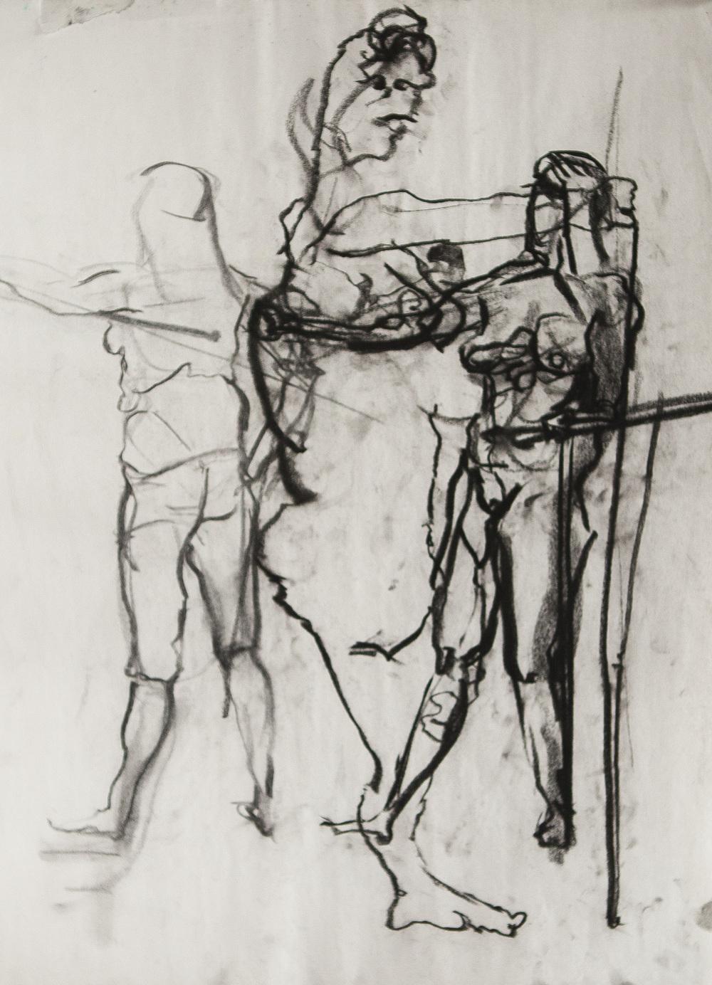 Blind Contour Figure Study