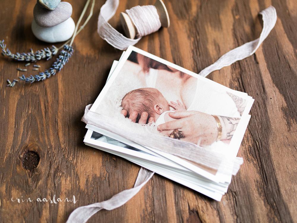 Erin Aasland Newborn Photographer Image Print Art Paper Ribbon