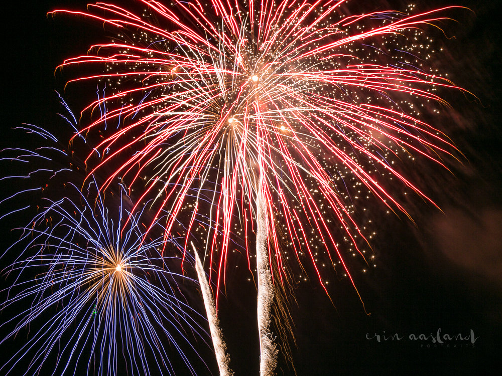 Erin Aasland Photographer 4th of July Red Flower Fireworks