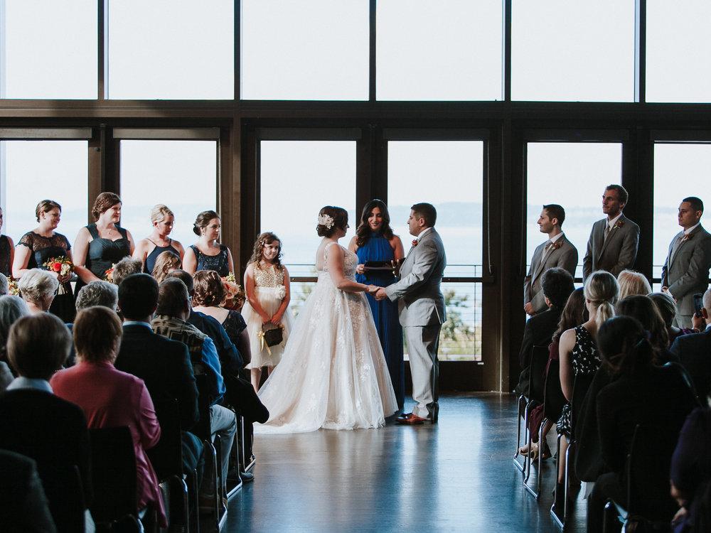 Mukilteo Wedding Ceremony Rosehill community center