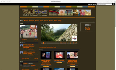 World Viewz Social Network Service Website