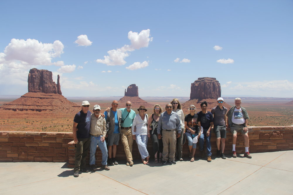 RBauval Monument Valley Group.JPG