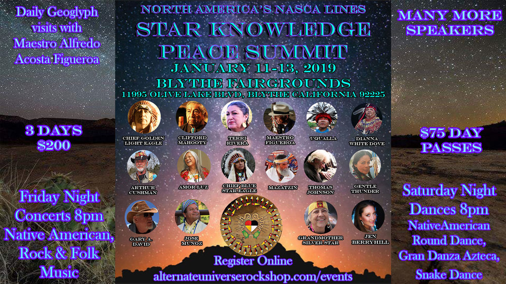 Star Knowledge Peace Summit North America Nasca Lines Blythe CA.