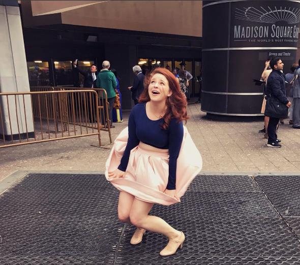 photo courtesy : Mary McManus-Johnson, post-graduation at MSG and a lá Marilyn Monroe
