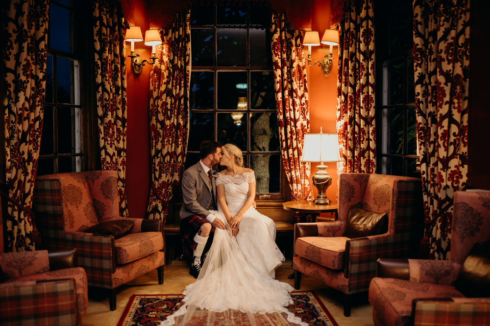 Emma & Donald - Pittodrie House Hotel