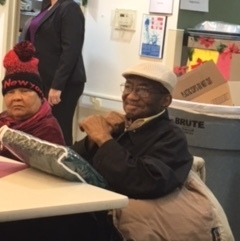 Members enjoying the atmosphere of a National MedTrans sponsored NMN Cares event known as the Blanket Project. National MedTrans donated cozy, micro-fleece blankets (in clear carrying case) to members to make their trips to and from their homes more comfortable in the winter weather.