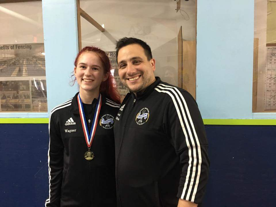 Congrats to SFA fencer Madelyn Wagner who took first on 10/16/16 in sabre, earned her E rating!