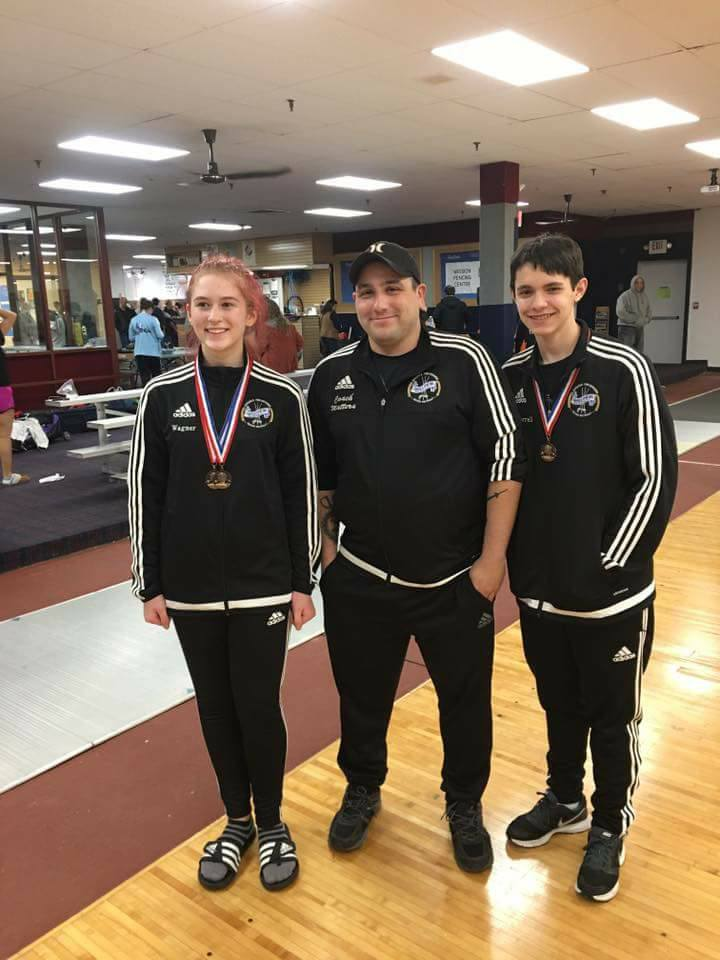Congrats Alex (epee) and Maddy (sabre)! Both earned medals 11/20/2016 at the Long Island Junior Olympic qualifiers!!!    Maddy qualified for JO's in both of her events, cadet and junior.