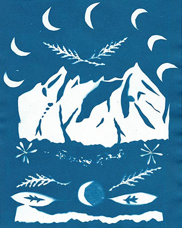 First Mountain Cyanotype