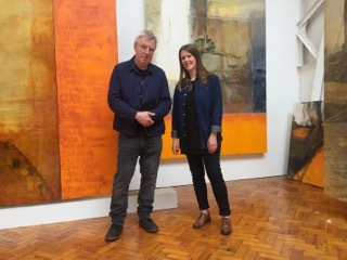 With Hughie O'Donoghue in his Greenwich Studio
