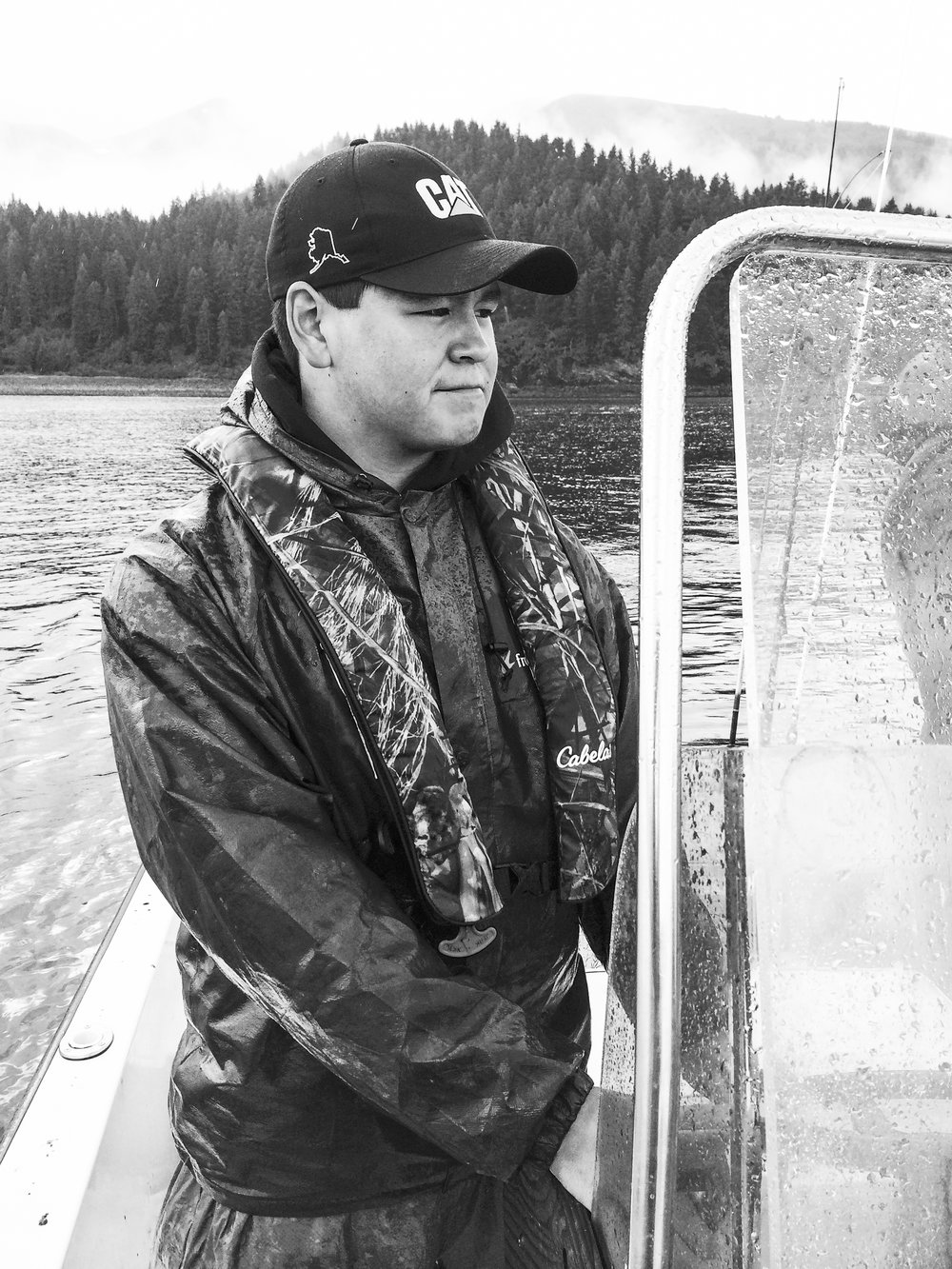 "Nickolas Meganack, Fisherman & Hunter, Port Graham, Alaska:  ""[I learned how to hunt] just following my dad teaching me how to do it and he told me stories about how they used to do it."""
