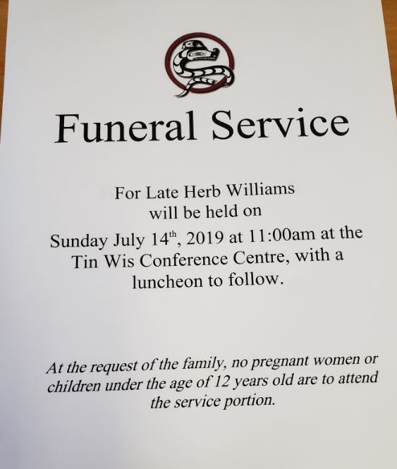 Funeral services and office closure — Tla-o-qui-aht First Nation