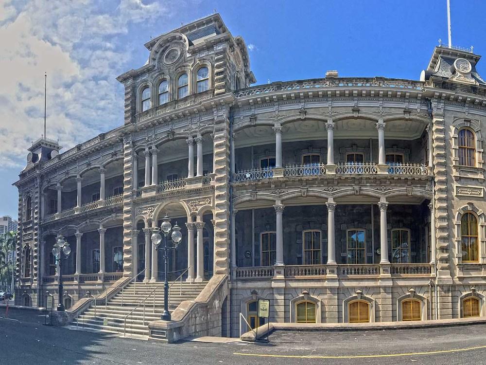 IOLANI PALACE - HOUSE MUSEUM - HONOLULU, HI - 1882 THOMAS J BAKER, CHARLES J WALL, ISAAC MOORE