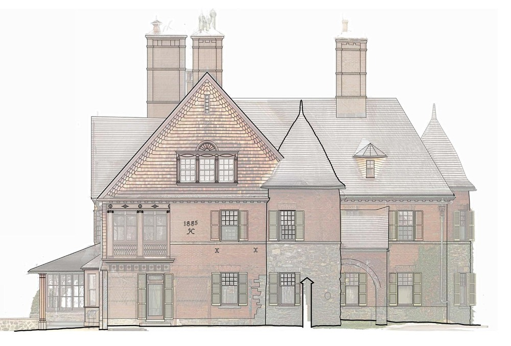 Line work is then traced over the point cloud elevation in AutoCAD