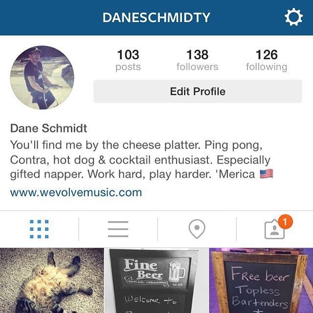 Started a personal Instagram to capture all my drinking escapades. Follow me if you dare... 😲