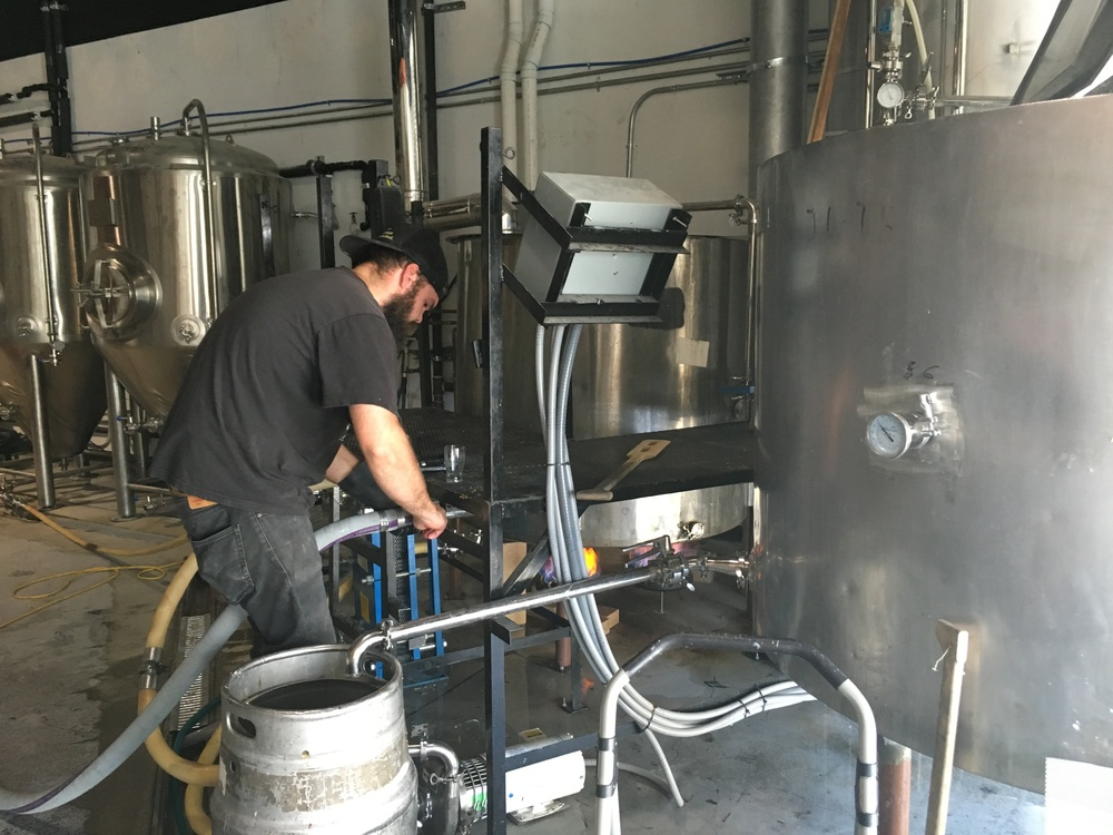 Mike (Head Brewer) hard at work