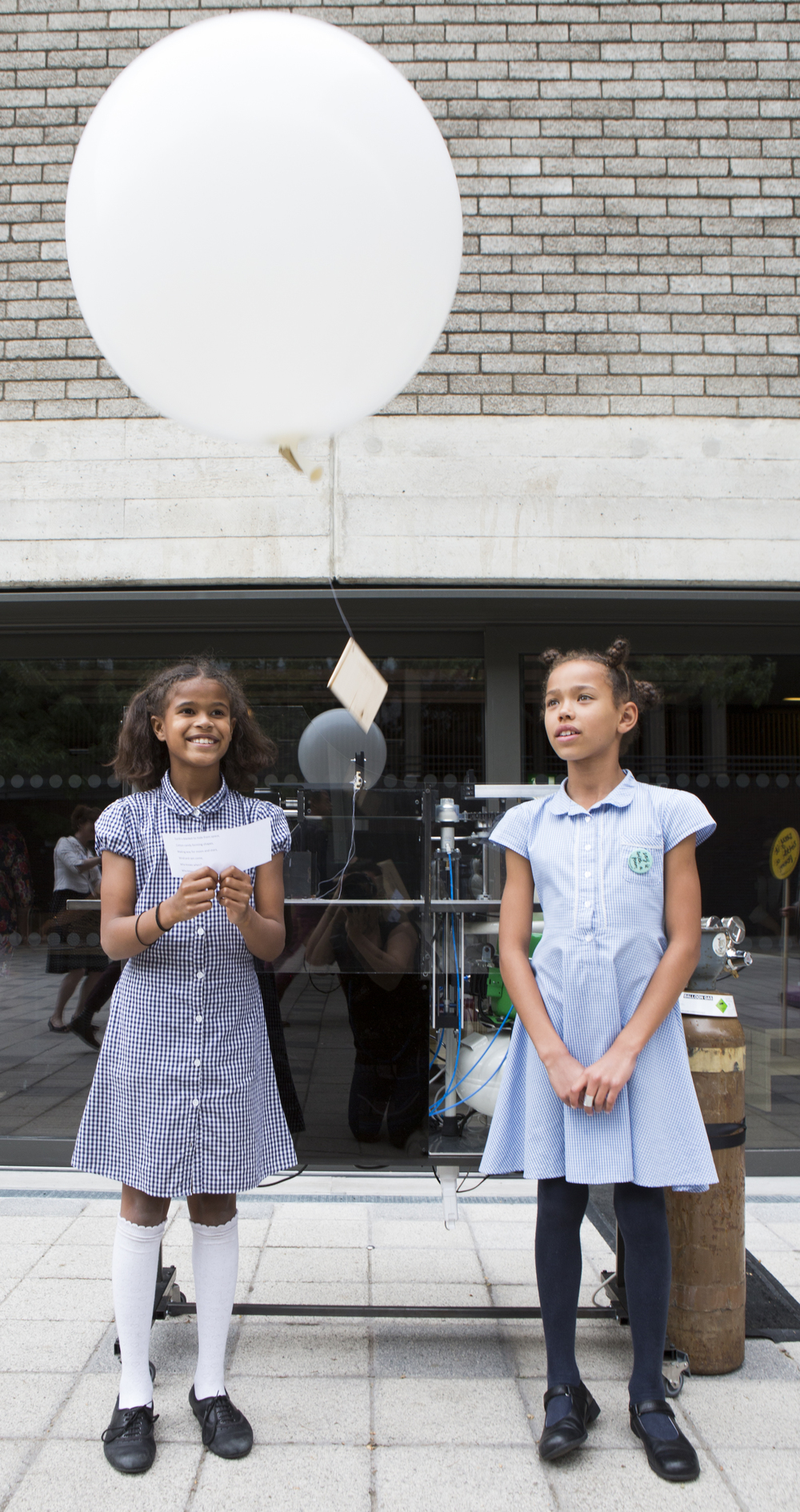 Two girls from All Saints Primary School 3 - National Poetry Day - Credit Ellie Kurttz
