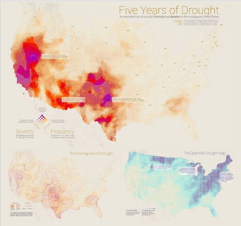 Five Years of Drought by John Nelson, which is shortlisted in the Data Journalism category.