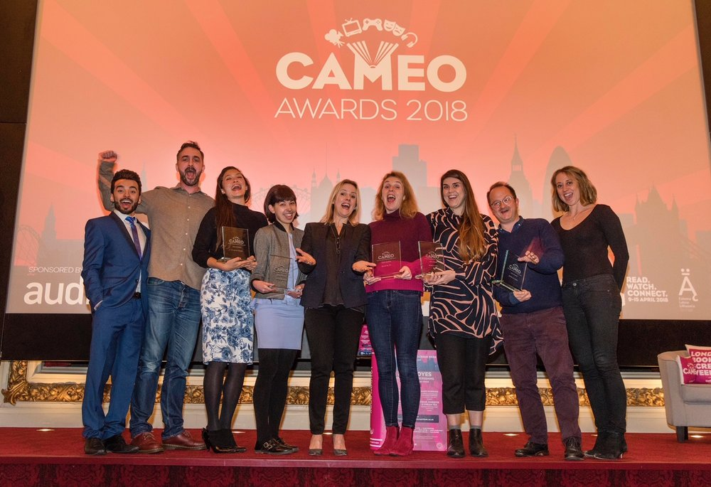 CAMEO Award winners with Jojo Moyes_credit Ed Hill.jpg