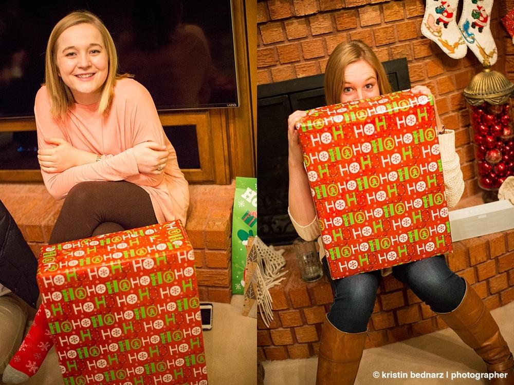 Pretty presents, pretty girls.