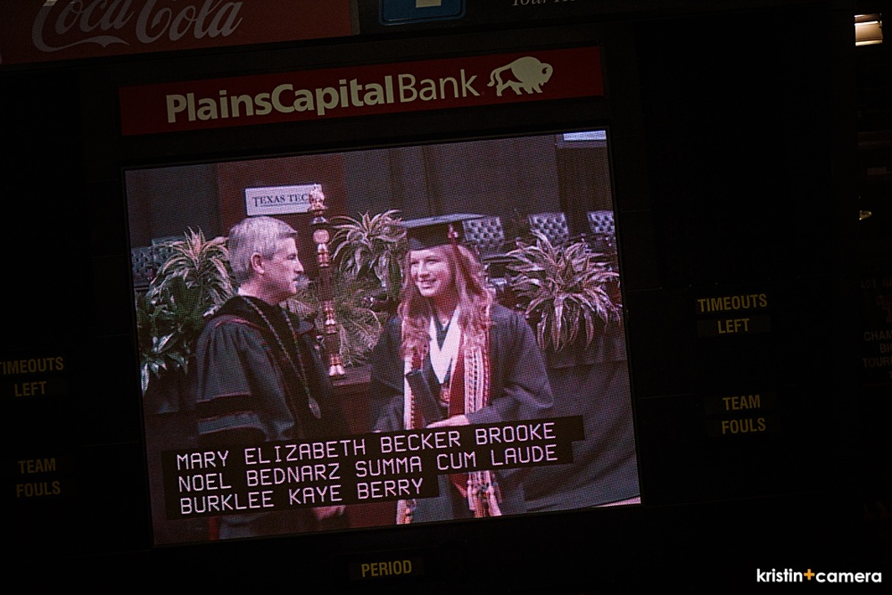 I managed to get a few of her going across the stage.  I love having graduations with this big screen!  You can totally see the graduate and scream your head off at the same time!  And I did!